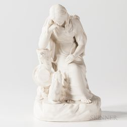 Wedgwood Carrara Figure of Poor Maria