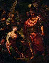 Flemish School, 17th Century Style    Abigail Pacifying David