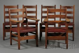 Six Gustav Stickley Chairs