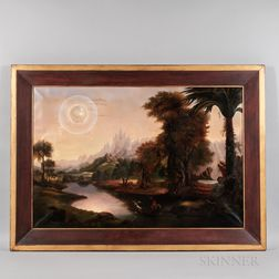 Manner of Erastus Salisbury Field (Massachusetts, 1805-1900)    Fantastic Allegorical Landscape
