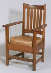Limbert Arts & Crafts Oak Armchair