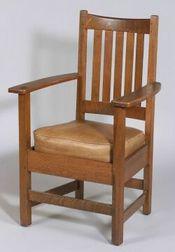 Limbert Arts & Crafts Oak Armchair
