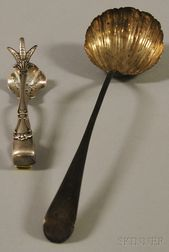 Two Silver Flatware Serving Items