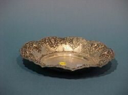 Sterling Silver Repousse Presentation Bowl.