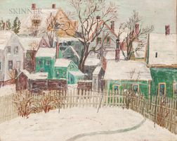 American School, 20th Century      Backyard Snowscape