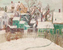 American School, 20th Century      Backyard Snowscape