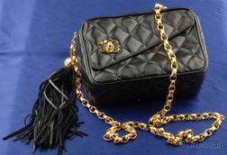 Black Leather Shoulder Bag, Chanel
