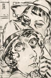 Max Ackermann (German, 1887-1975)      Zwei Frauenköpfe