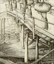 Lot of Three Figural Prints:    Robert Sargent Austin (British, 1895-1987), The Wooden Bridge, Sottocastello