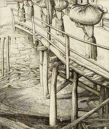 Lot of Three Figural Prints:    Robert Sargent Austin (British, 1895-1987), The Wooden Bridge, Sottocastello
