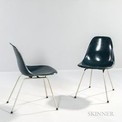 Two Charles and Ray Eames DCM Chairs