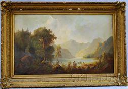 American School, 19th Century      Mountain Landscape