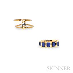 Two 18kt Gold Rings, Tiffany & Co.