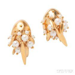 Cultured Pearl Earrings, Ted Muehling