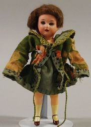 Miniature AM Bisque and Composition Doll