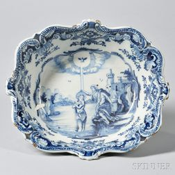 Blue and White-decorated Delft Bowl
