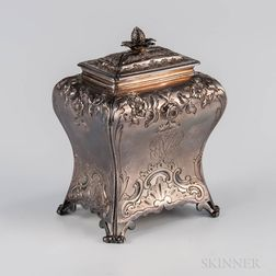 George II Sterling Silver Tea Canister