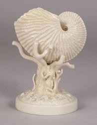 Belleek Porcelain Nautilus Shell Vase