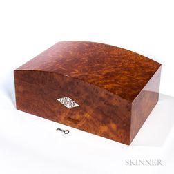Cartier Humidor in Burl Vavona Figured Wood and