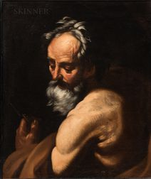 Attributed to Giovanni Battista Beinaschi (Italian, 1636-1688)      St. Bartholomew