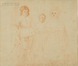 After Sir Anthony Van Dyke (Flemish, 1599-1641)    Sketch for Children of Charles I