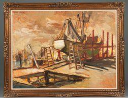 Dulce Beatriz (Spanish, b. 1931)    Vessel in Dry Dock