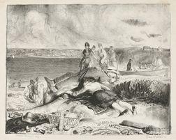 George Wesley Bellows (American, 1882-1925)      Legs of the Sea