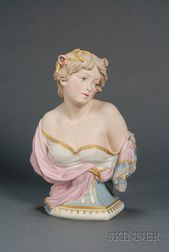 Copeland Tinted Parian Bust Depicting Summer