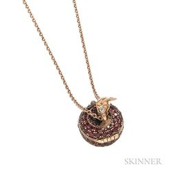 18kt Rose Gold and Ruby