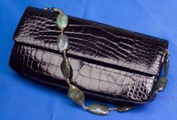 Black Crocodile and Labradorite Clutch/Shoulder Bag, Darby Scott