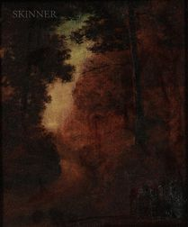 Marian Blakelock (American, 1880-1930)    Road through a Forest, Dusk