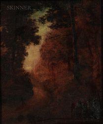 Marian Blakelock (American, 1880-1930)    Road through a Forest, Dusk