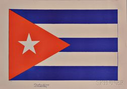 Emilio Sanchez (Cuban/American, 1921-1999)      La Bandera de Cuba