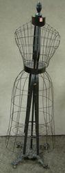 Victorian Black Painted Cast Iron Dressmaker's Form