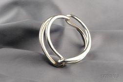 Sterling Silver Bangle Bracelet, Gucci