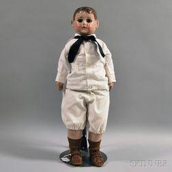 Alabama Molded Cloth Head Boy Doll