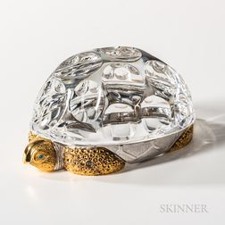 Steuben Sterling Silver, Gold-washed, and Glass