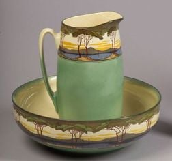 Royal Doulton Earthenware Pitcher and Wash Bowl