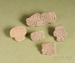 Five Pre-Columbian Pottery Seals