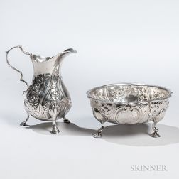 George III Sterling Silver Cream Jug and Sugar Bowl