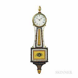 Simon Willard & Co. Stenciled-front Patent Timepiece or