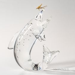 Steuben 18kt Gold, and Glass