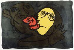 Karel Appel (Dutch/American, b. 1921)  The Kiss