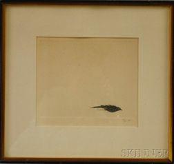 Leonard Baskin (American, 1922-2000)      Bird in the Sun