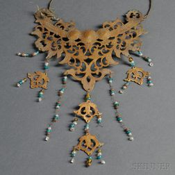 Gilt Copper Necklace