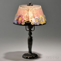 Pairpoint Boudoir Lamp Base and Attributed Shade