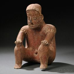 Jalisco Seated Male Figure