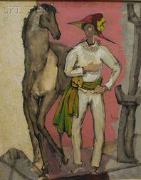 Jose Luis Figueroa (Portuguese, b. 1925)      Arlequin y mujer