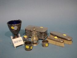 Fifty-eight Assorted Sterling and Plated Dresser and Table Items.