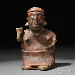 Nayarit Seated Female Figure